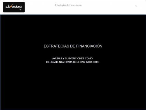 portada ponencia estrategias de financiacion 2012 giesa